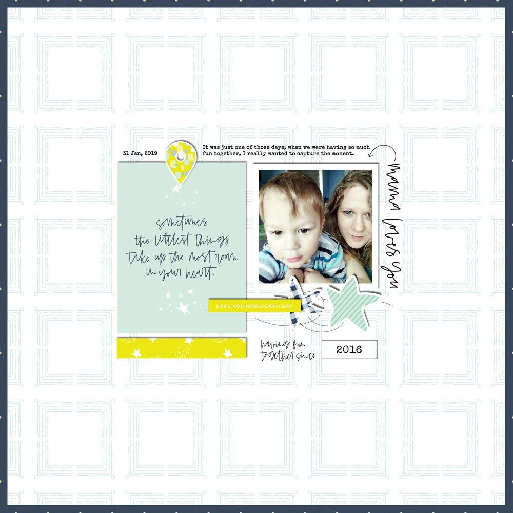 Digital Scrapbook Layout Inspiration - Sahin Designs