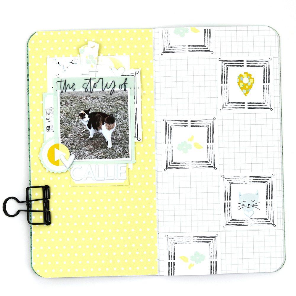 Hybrid Scrapbook Layout Inspiration - Sahin Designs