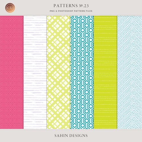 Repeat Geometric Patterns No.23 - Sahin Designs - CU Digital Scrapbook
