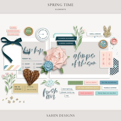 Spring Time Digital Scrapbook Elements - Sahin Designs