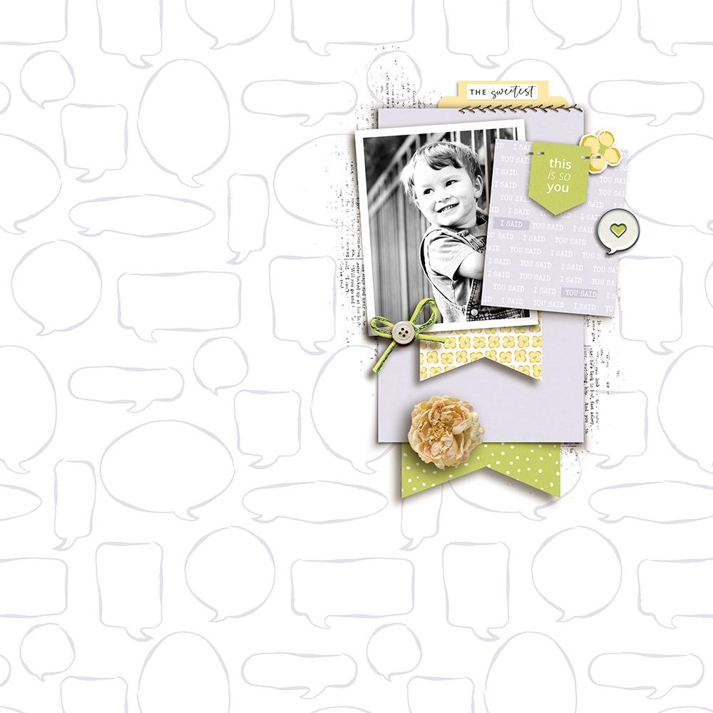 Digital Scrapbooking Layout Inspiration - Sahin Designs