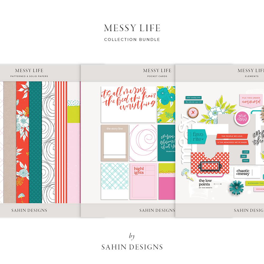 Messy Life Digital Scrapbook Collection - Sahin Designs
