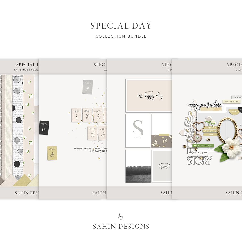 Special Day Digital Scrapbook Collection - Sahin Designs