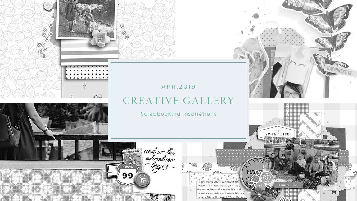April Creative Scrapbook Gallery 2019 - Sahin Designs