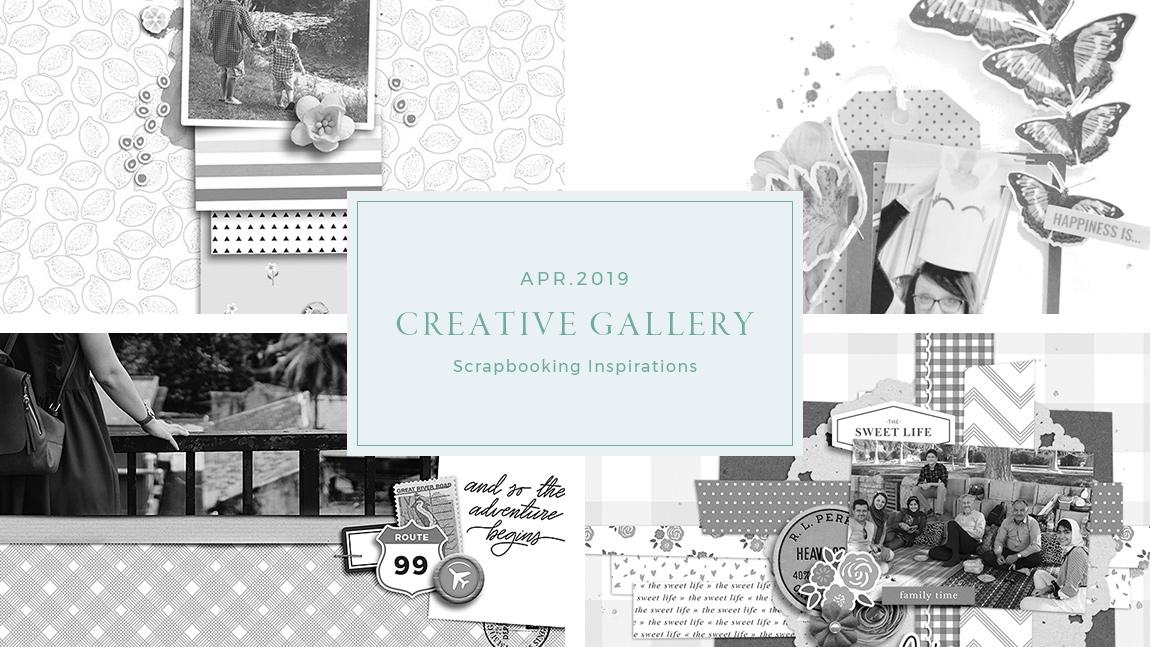 April Creative Scrapbook Gallery 2019 - Sahin Designs
