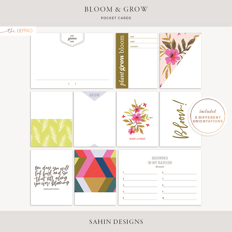Bloom & Grow Free Digital Scrapbook Kit - Sahin Designs