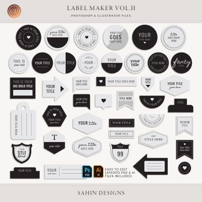 Label Maker Vol.II - Sahin Designs - CU Digital Scrapbook