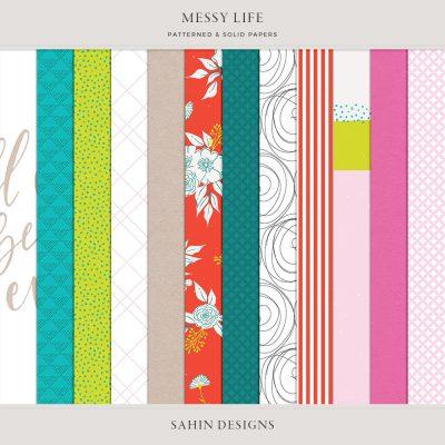 Messy Life Digital Scrapbook Papers - Sahin Designs