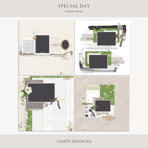 Special Day Digital Scrapbook Album Pages - Sahin Designs