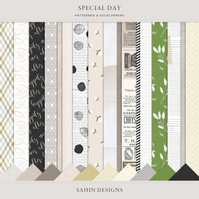 Special Day Digital Scrapbook Papers - Sahin Designs