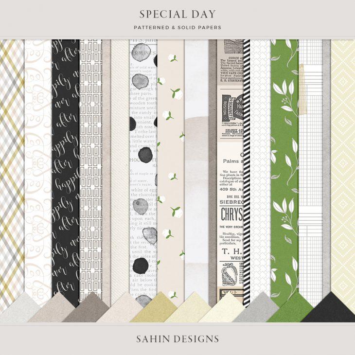 Special Day Digital Scrapbook Papers - Sahin Designs