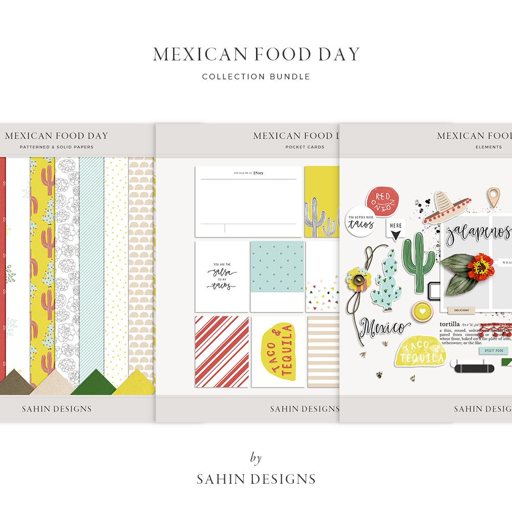 Mexican Food Day Digital Scrapbook Collection - Sahin Designs