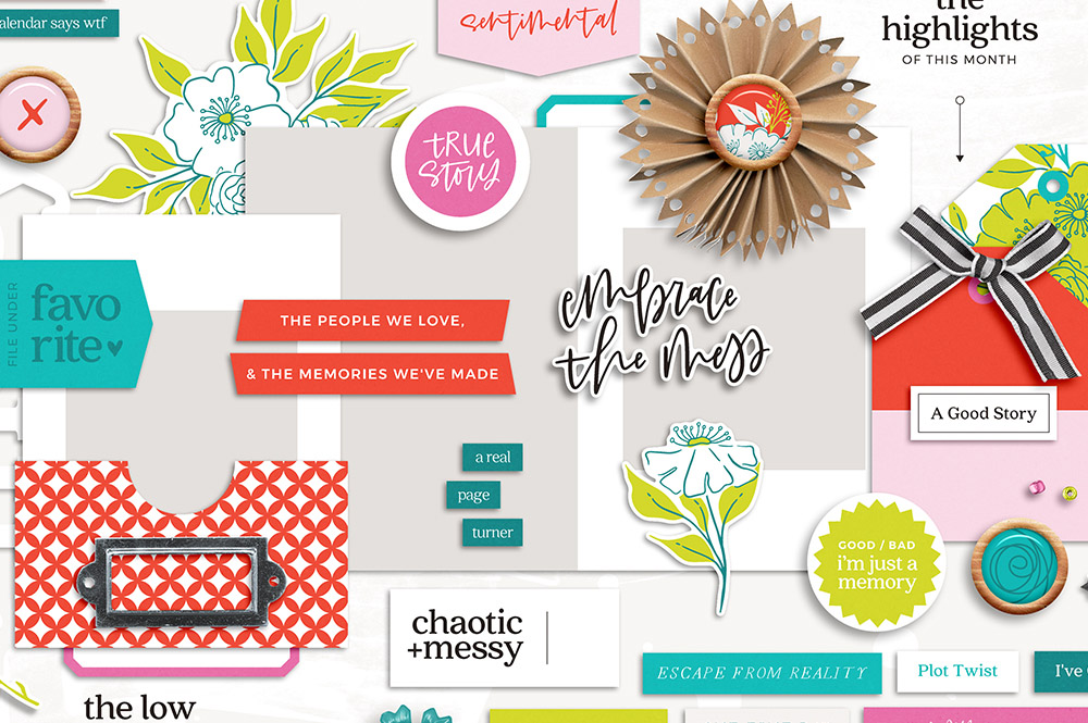 Messy Life Digital Scrapbook Collection - Sahin Designs
