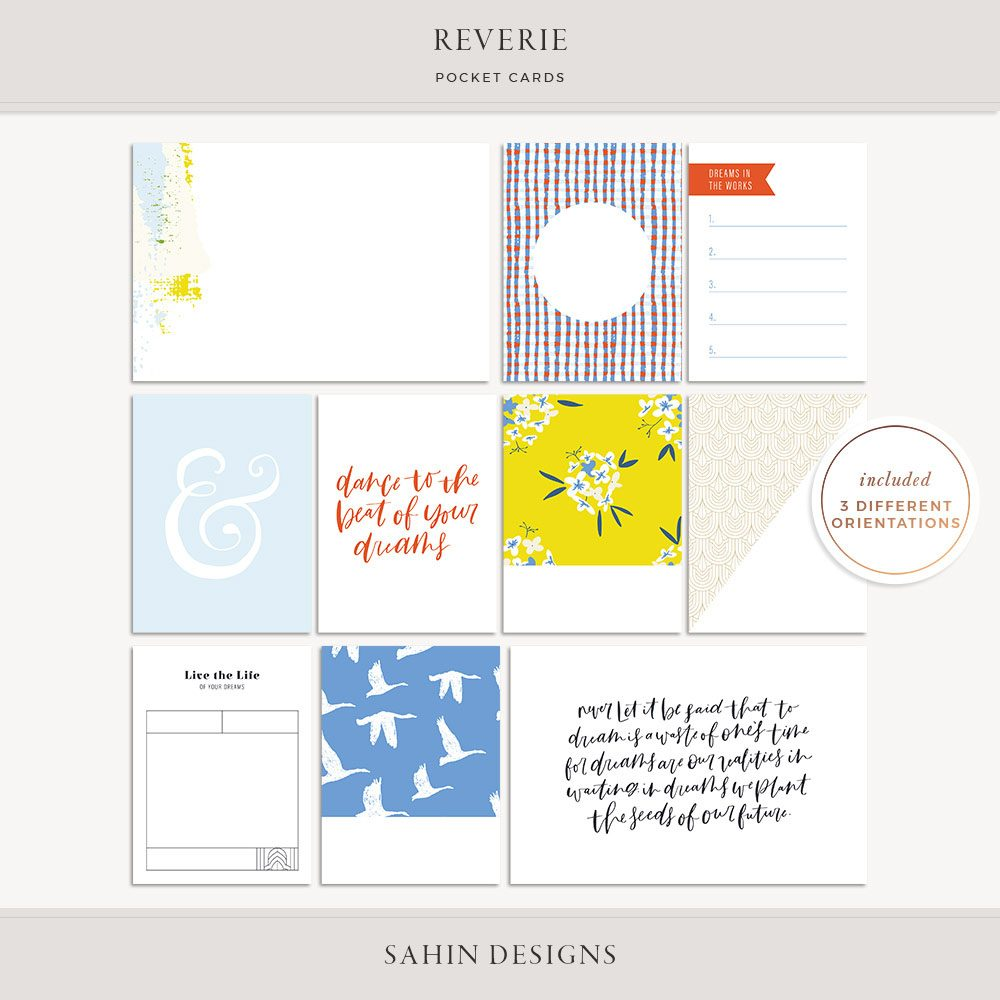 Reverie Printable Pocket Cards - Sahin Designs