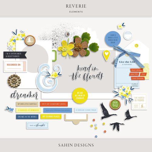 Reverie Digital Scrapbook Elements - Sahin Designs