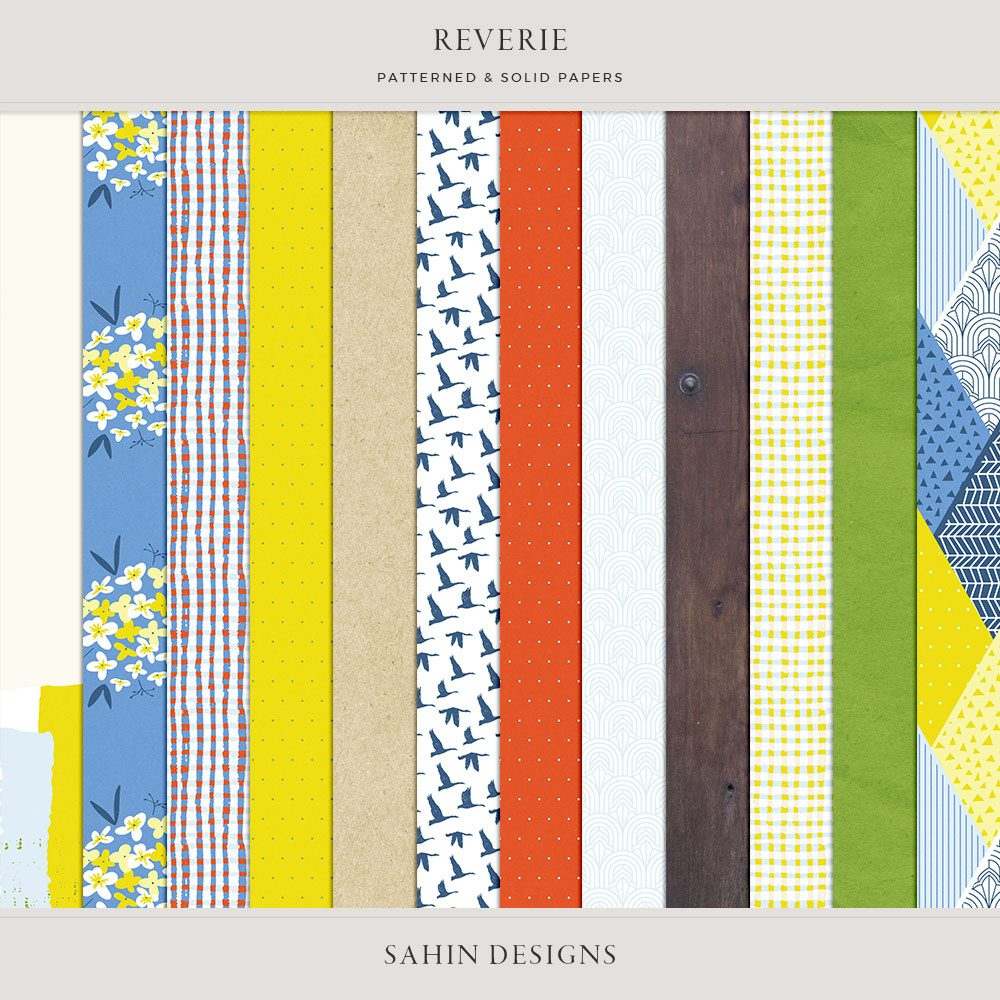 Reverie Digital Scrapbook Papers - Sahin Designs