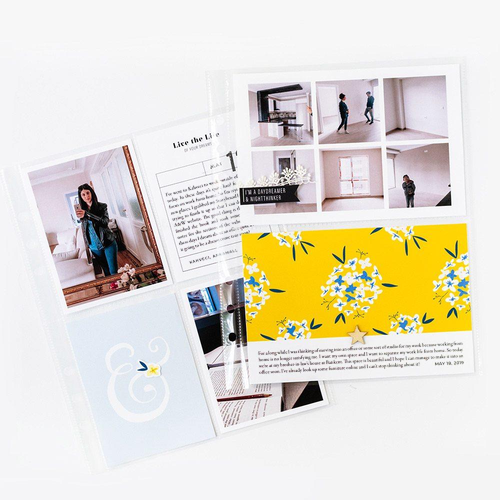 Pocket Scrapbook Layout Inspiration - Sahin Designs