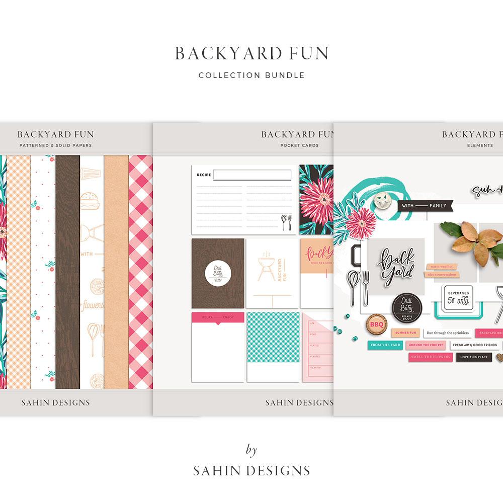 Backyard Fun Digital Scrapbook Collection - Sahin Designs