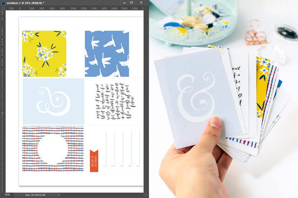 Viewing digital scrapbook files at actual print size in Photoshop & Illustrator