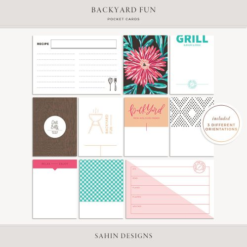 Backyard Fun Printable Pocket Cards - Sahin Designs