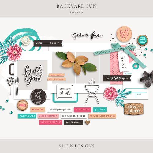 Backyard Fun Digital Scrapbook Elements - Sahin Designs