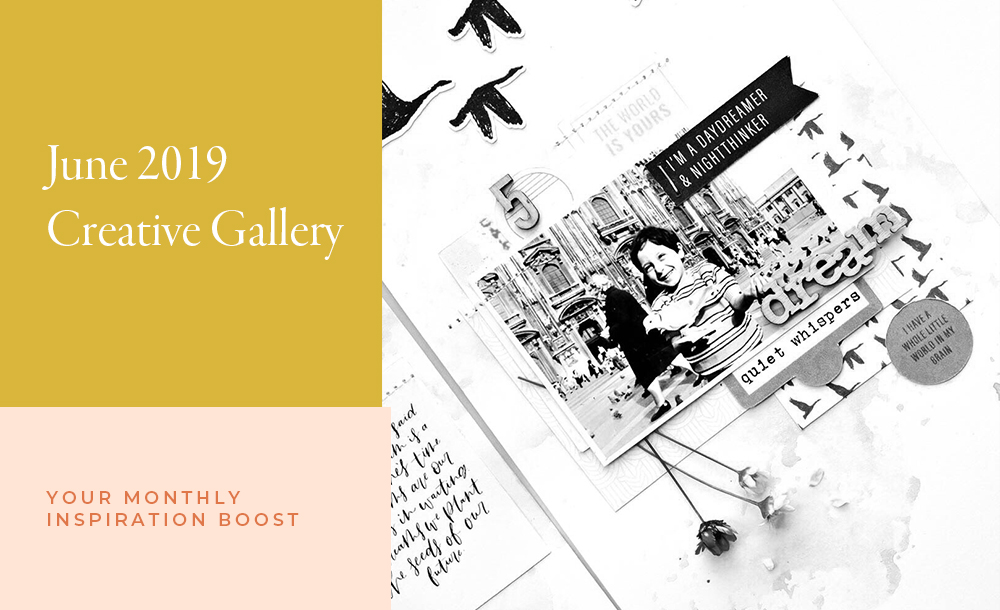 June Creative Scrapbook Gallery 2019 - Sahin Designs