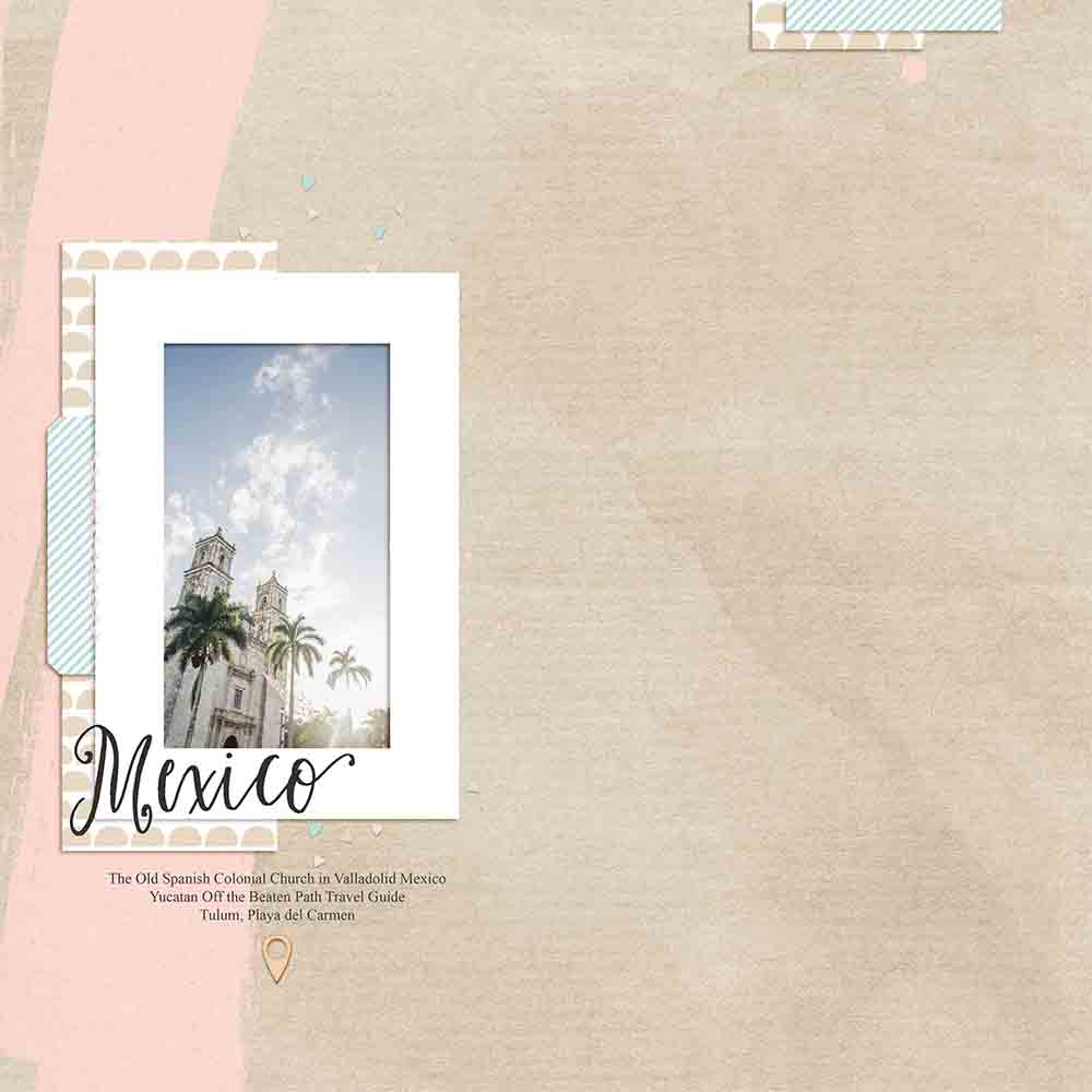 Digital Scrapbook Layout Inspiration - Sahin Designs