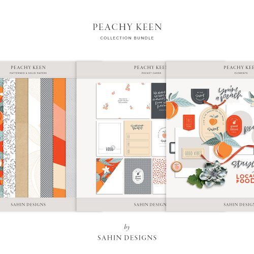 Peachy Keen Digital Scrapbook Collection - Sahin Designs