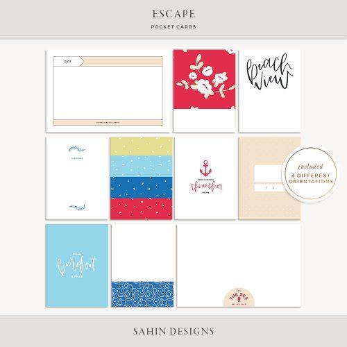sahin designs, summer scrapbook supplies, scrapbooking supplies, scrapbook paper, hybrid scrapbooking, project life, printable pocket card, printable project life,
