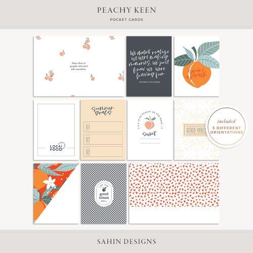 Peachy Keen Printable Pocket Cards - Sahin Designs