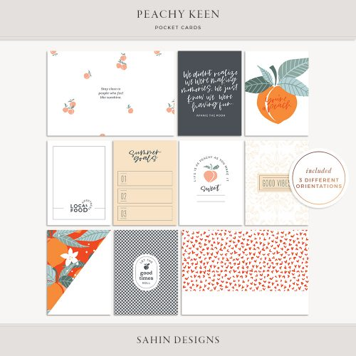 Peachy Keen Printable Pocket Cards - Sahin Designs