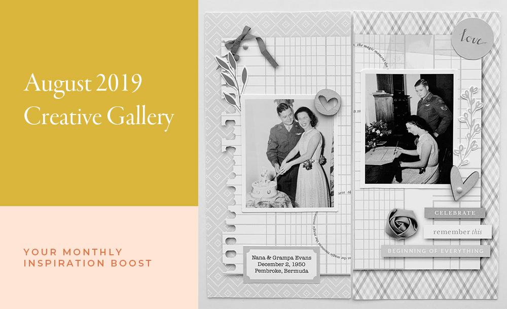 August Creative Scrapbook Gallery 2019 - Sahin Designs