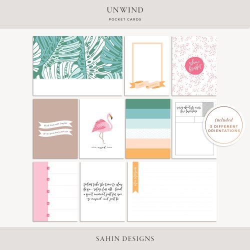 Unwind Printable Pocket Cards -Sahin Designs