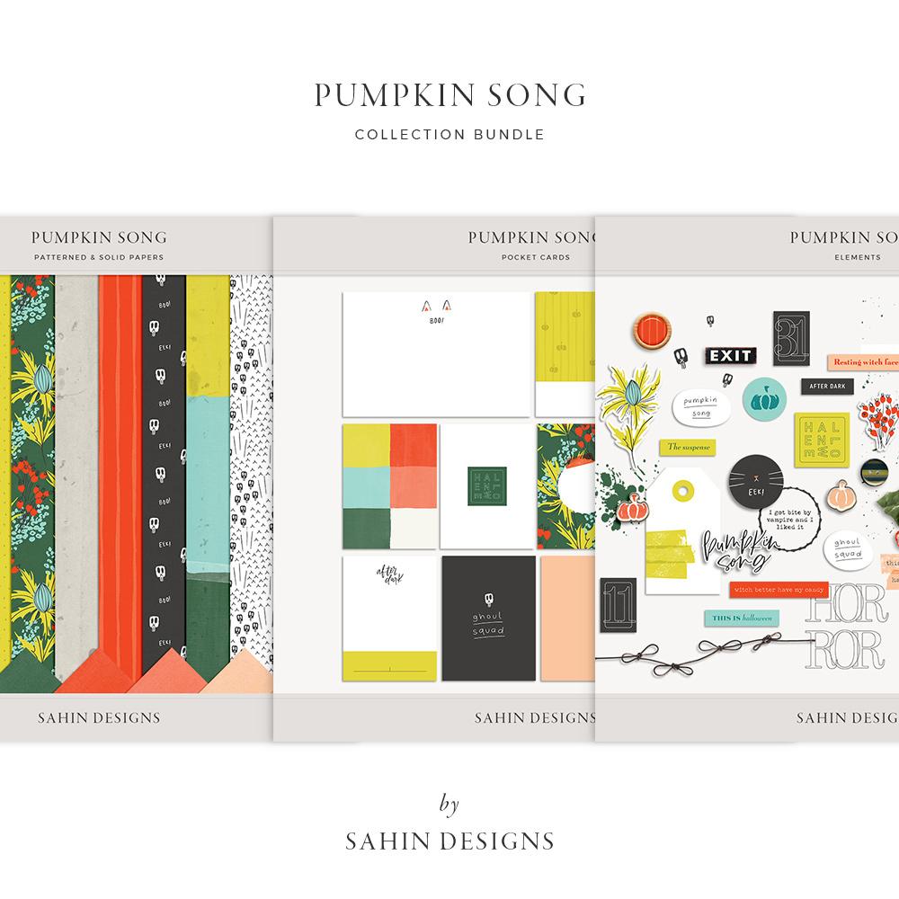digital scrapbooking, scrapbooking, printable scrapbook supply, scrapbook kit, printable paper, patterned paper, autumn scrapbook, fall scrapbook, sahin designs, halloween scrapbook