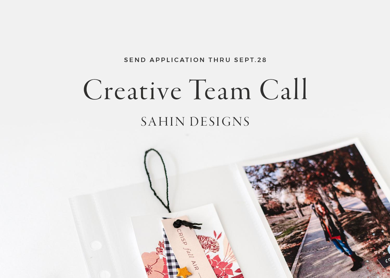 September 2019 Creative Team Call
