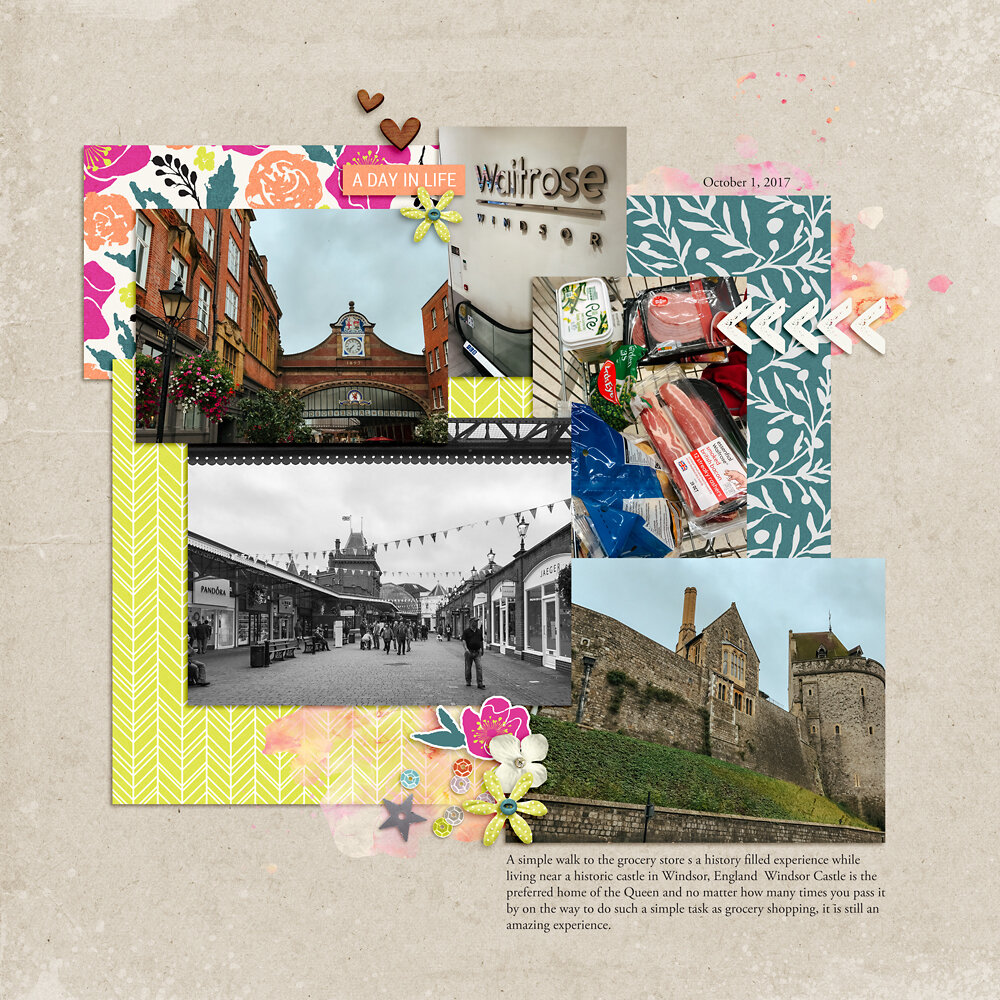 Digital Scrapbooking Layout Inspiration - Sahin Designs