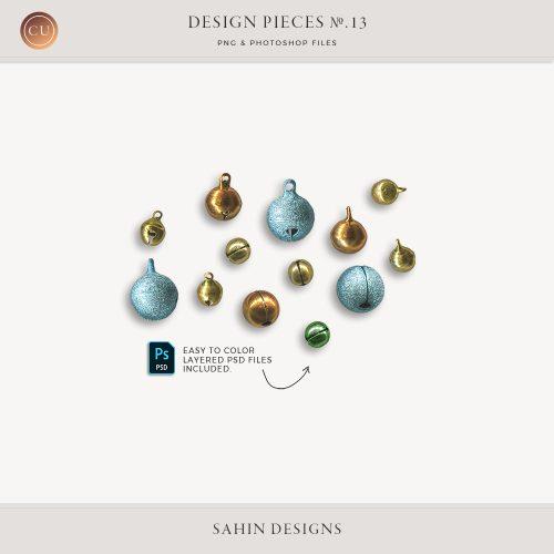 Extracted Bells for Digital Scrapbooking - Sahin Designs - CU