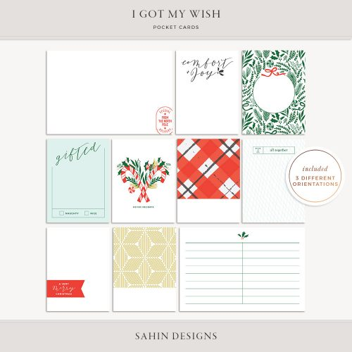 I Got My Wish Printable Pocket Cards - Sahin Designs