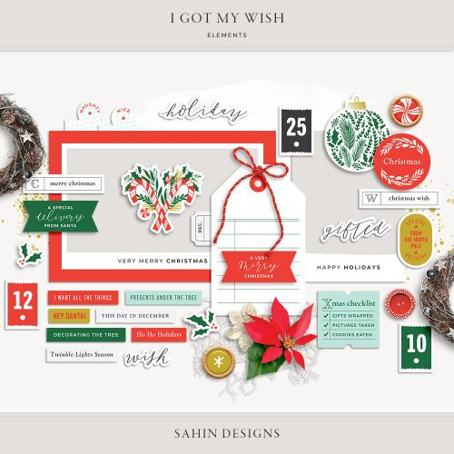 I Got My Wish Digital Scrapbook Elements - Sahin Designs