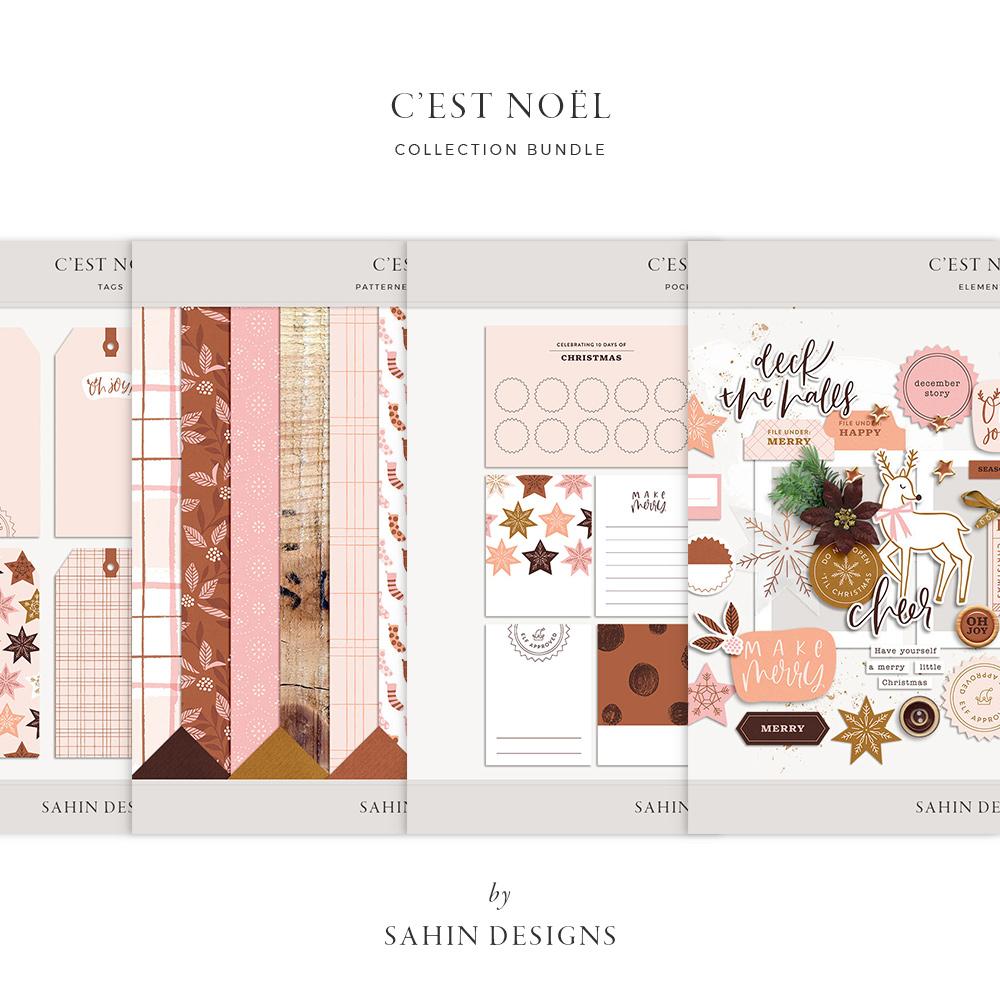 C'est Noël Digital Scrapbook Collection - Sahin Designs