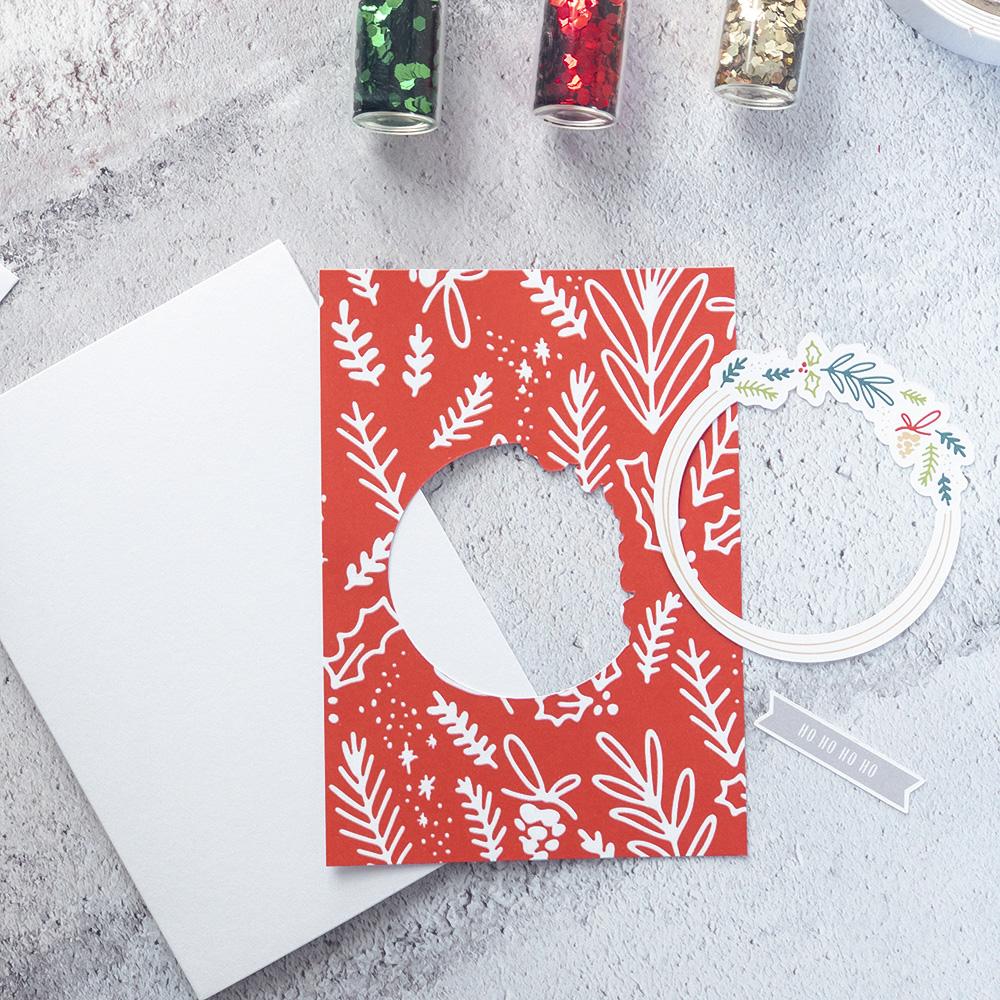 DIY Christmas card with digital scrapbook supplies - Sahin Designs