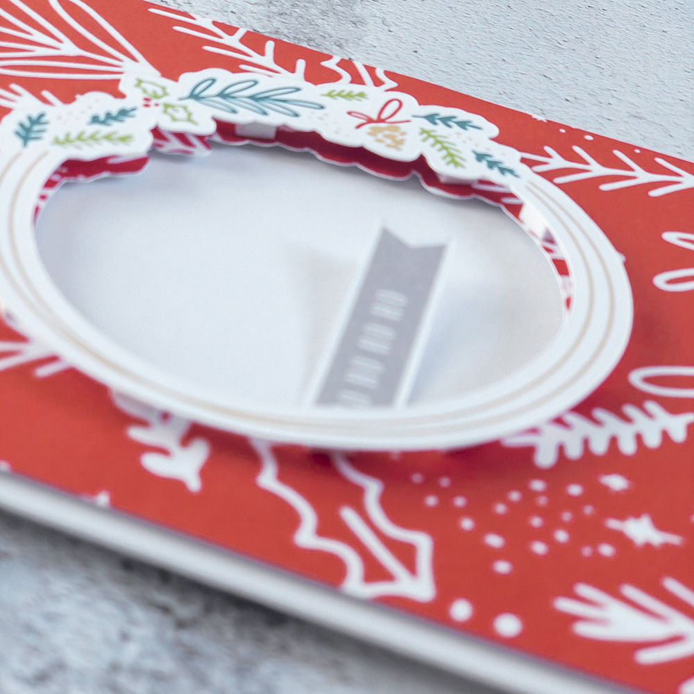 DIY Christmas card with digital scrapbook supplies - Sahin Designs