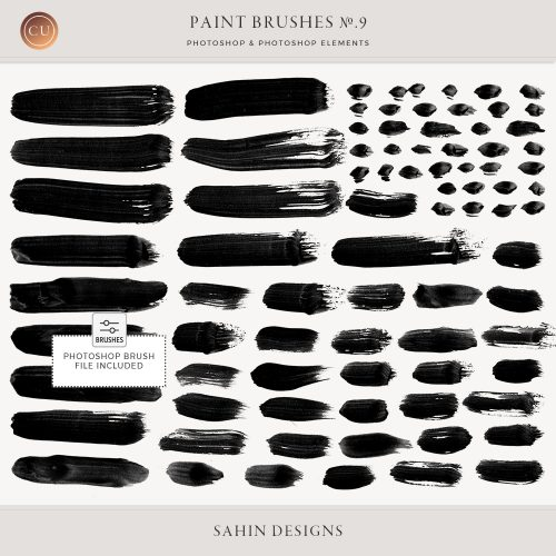 Digital brush strokes - Sahin Designs - CU Digital Scrapbook