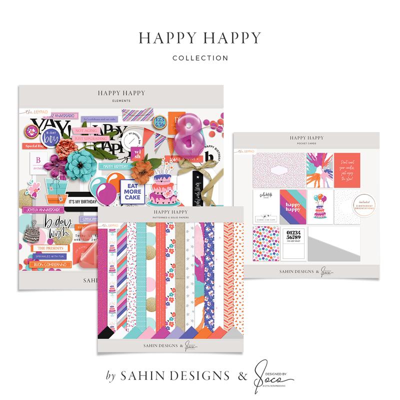 Happy Happy Digital Scrapbook Collection - Sahin Designs