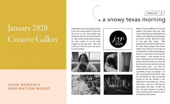 January Creative Scrapbook Gallery 2020 - Sahin Designs