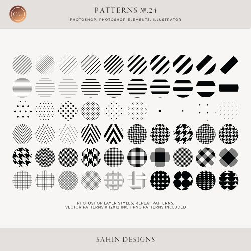 Basic Repeat Patterns - Sahin Designs - CU Digital Scrapbook