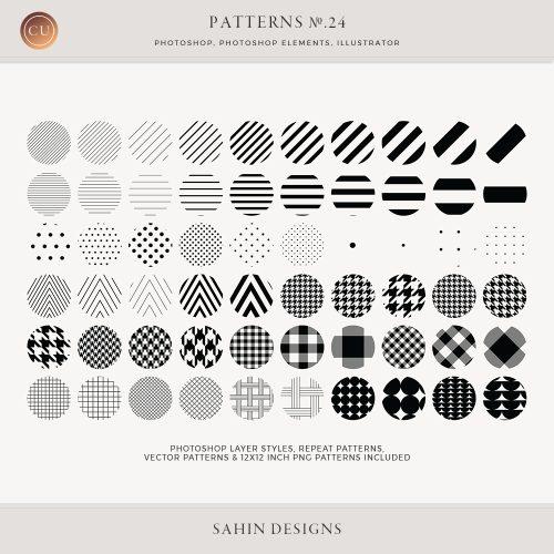 Basic Repeat Patterns - Sahin Designs - CU Digital Scrapbook