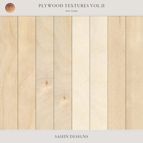 Digital Plywood Textures - Sahin Designs - CU Digital Scrapbook