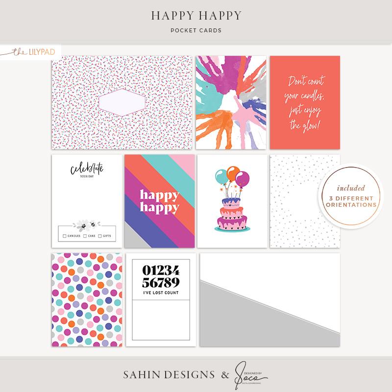 Happy Happy Printable Pocket Cards - Sahin Designs