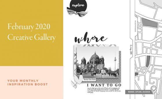 February Creative Scrapbook Gallery 2020 - Sahin Designs